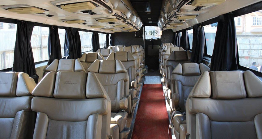 Kathmandu to Pokhara Luxury Tourist Bus, Deluxe, Super Deluxe, Super VIP Bus